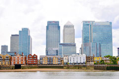 Skyscrapers and river thames Stock Image