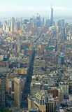 Skyscrapers and roofs of center of New York. View from above Royalty Free Stock Photography
