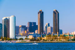Skyscrapers of San Diego Skyline, waterfront ,and harbor, CA(P) Royalty Free Stock Image