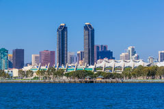 Skyscrapers of San Diego Skyline, waterfront, and harbor, CA(P) Royalty Free Stock Photography