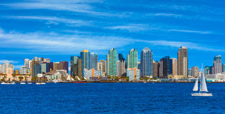 Skyscrapers of San Diego Skyline, waterfront and harbor, CA(P) Stock Image