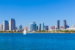 Skyscrapers of San Diego Skyline, waterfront, and harbor, CA(P) Royalty Free Stock Photo