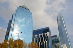 Skyscrapers in Santiago Chile Stock Images
