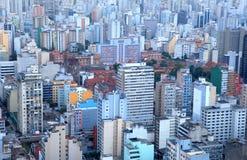 Skyscrapers in Sao Paulo. Tall buildings in Sao Paulo city Stock Photos