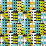 Skyscrapers seamless pattern. Royalty Free Stock Image