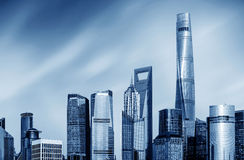 Skyscrapers in Shanghai, China Stock Photos