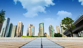 Skyscrapers in Shanghai, China Royalty Free Stock Image