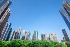 Skyscrapers in Shanghai, China Royalty Free Stock Photography