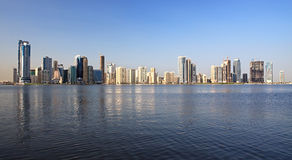 Skyscrapers in Sharjah. royalty free stock images
