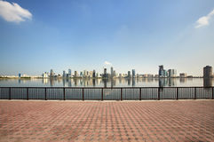 Skyscrapers in Sharjah. Royalty Free Stock Photo