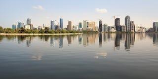 Skyscrapers in Sharjah. stock images