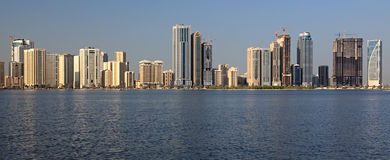 Skyscrapers in Sharjah. Royalty Free Stock Image
