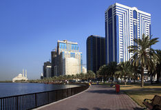 Skyscrapers in Sharjah. royalty free stock photos