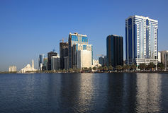 Skyscrapers in Sharjah. Stock Photos