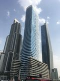 Skyscrapers on Sheikh Zayed Road in Dubai, UAE royalty free stock images