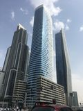 Skyscrapers on Sheikh Zayed Road in Dubai, UAE stock photos