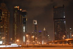 Skyscrapers on Sheikh Zayed Road in Dubai, UAE Royalty Free Stock Photography
