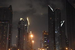 Skyscrapers on Sheikh Zayed Road in Dubai, UAE Stock Images