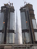 Skyscrapers on Sheikh Zayed Road in Dubai, UAE Stock Image