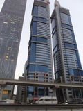 Skyscrapers on Sheikh Zayed Road in Dubai, UAE Stock Photography