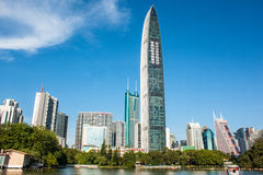 Skyscrapers in Shenzhen, China Royalty Free Stock Photography