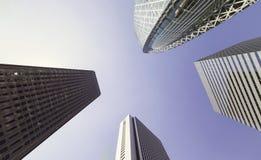 Skyscrapers of Shinjuku, Tokyo,looking up Stock Photo