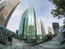 Skyscrapers at Shiodome District Tokyo Royalty Free Stock Images