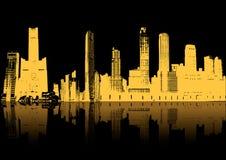 Skyscrapers silhouette Stock Photo