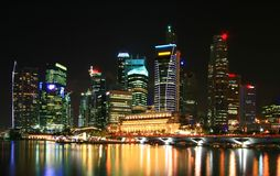 Skyscrapers in Singapore business district Royalty Free Stock Photography