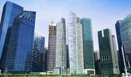Skyscrapers of Singapore business district, Singapore. Travel. Stock Photo