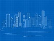 Skyscrapers skecth stock illustration