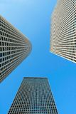 Skyscrapers on sky background Stock Image