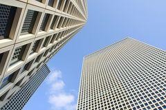 Skyscrapers on sky background Stock Images
