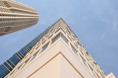 Skyscrapers steep upwards Stock Images