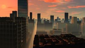 Skyscrapers. Sunrise. stock footage