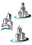 Skyscrapers symbols Stock Photo