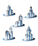 Skyscrapers symbols Royalty Free Stock Images