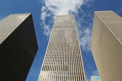 Skyscrapers of the 6th avenue or Avenue of the Americas in Manhattan Stock Photos
