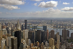 Skyscrapers, top view on New York. View of New York from the bird's flight Stock Images