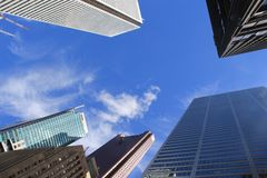 Skyscrapers in Toronto Stock Photo