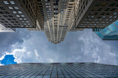 Skyscrapers toward the sky. New York skyscrapers toward the sky royalty free stock images