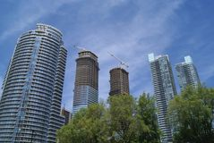 Skyscrapers, Towers, Financial District, Toronto, Ontario, Canada Royalty Free Stock Image