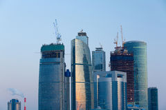 Skyscrapers in twilight Royalty Free Stock Images