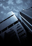 Skyscrapers, typical urban cityscape. Modern skyscrapers, typical urban cityscape Royalty Free Stock Images