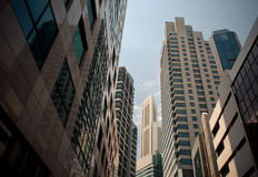 Skyscrapers, typical urban cityscape. Modern skyscrapers, typical urban cityscape Stock Image