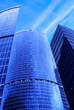 Skyscrapers under blue sky Stock Photography