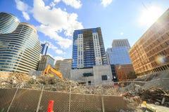 Skyscrapers under construction in Minneapolis, Minnesota, USA Stock Photos