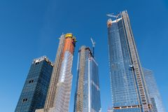 New skyscrapers under construction in New York City stock images