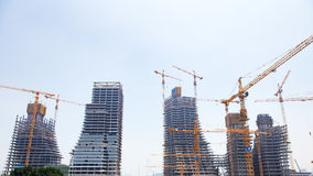 Skyscrapers under construction Royalty Free Stock Photos