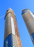 Skyscrapers Under Construction. Two modern buildings under construction in Downtown Toronto, Canada Stock Images